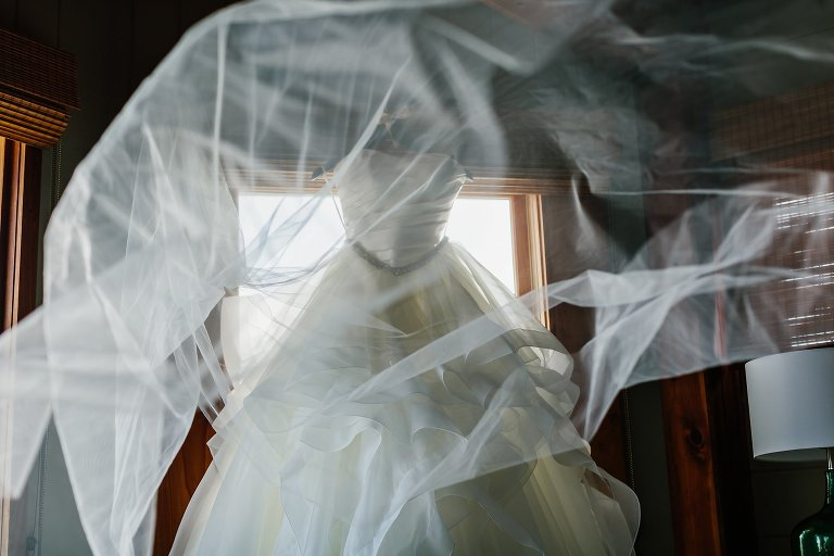Wedding Dress, Veil, St George Island Plantation