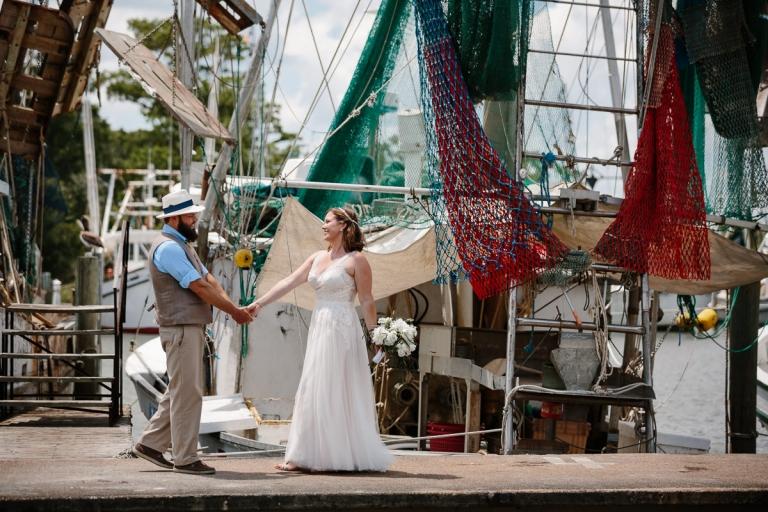Shrimp Boat Wedding Portraits Apalachicola Marina
