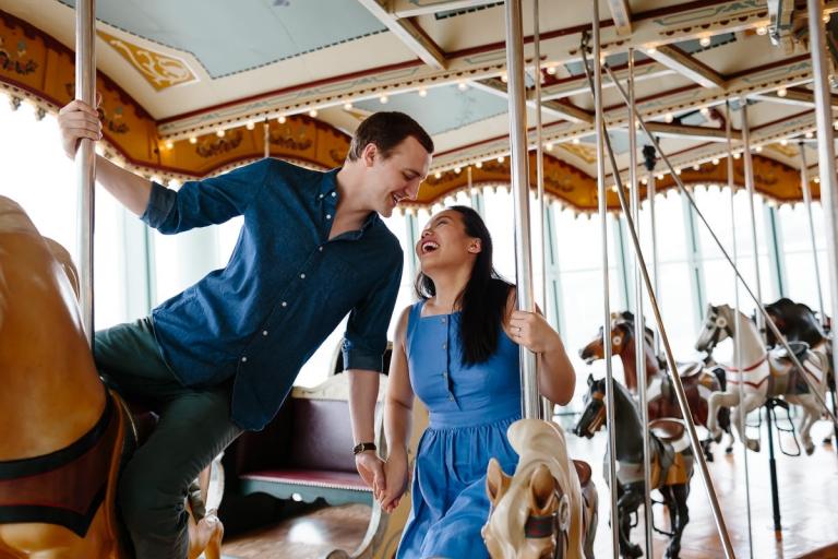 Jane's Carousel Engagement Photographs