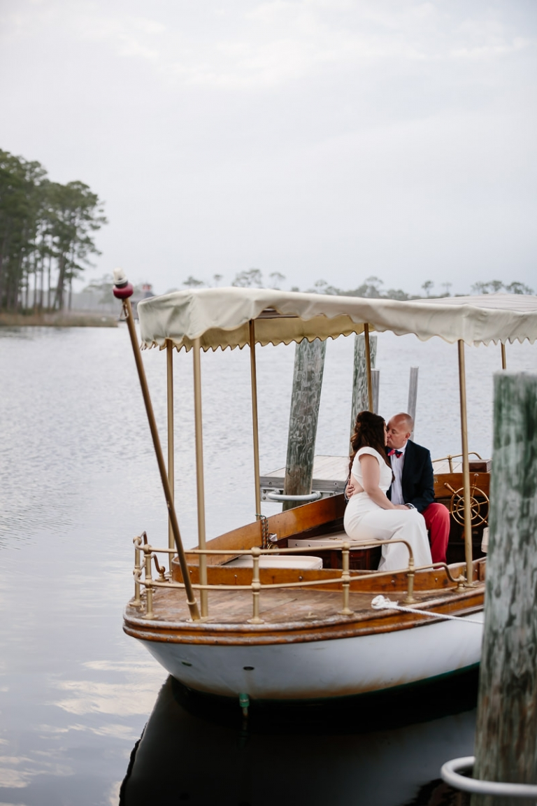 Watercolor Inn Boathouse Wedding Portraits