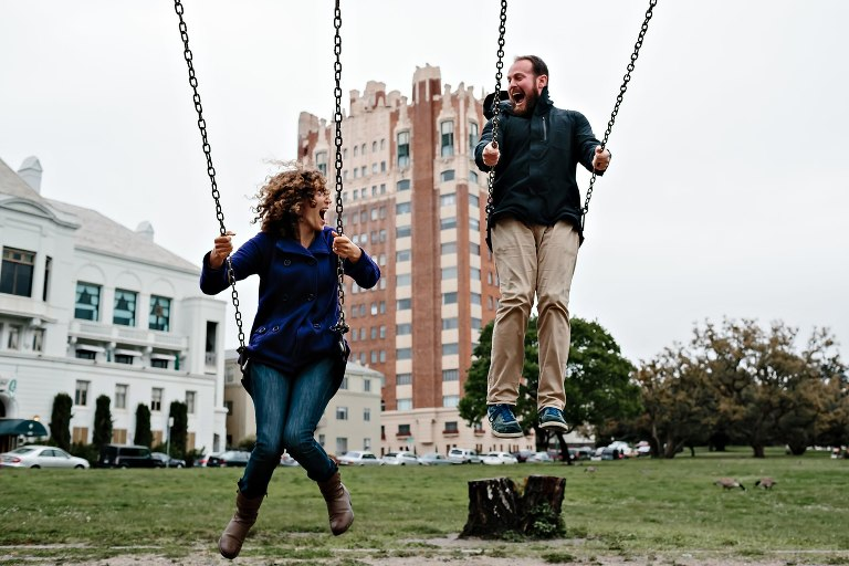 Lake Merritt Engagement Photography