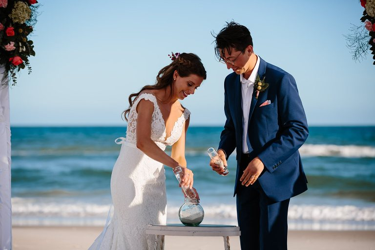 Sand Ceremony At Beach On St George Island Fl