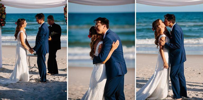Ceremony Kiss At Beach On St George Island Fl