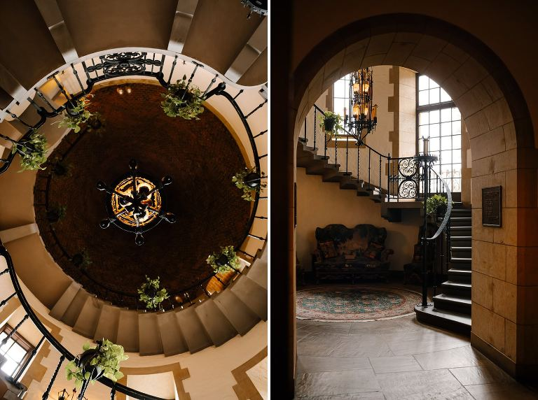 Graylyn Estate circular staircase