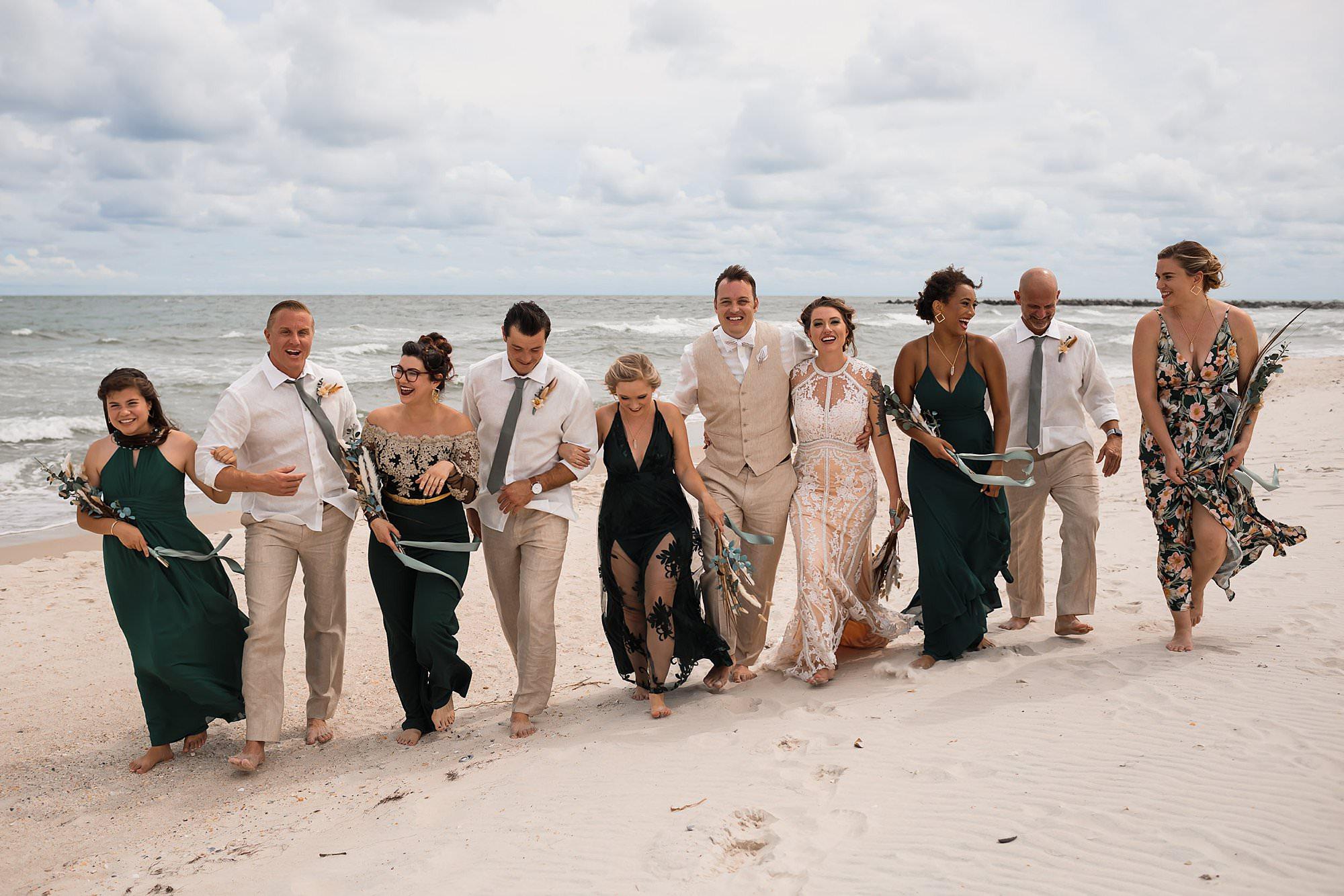Beach Wedding St George Island Amy Little Photography