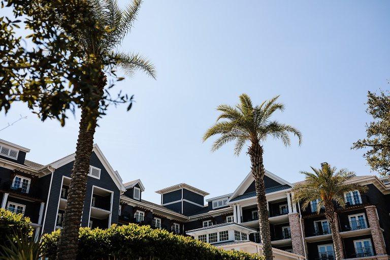 Skyward view of The Henderson Beach Resort in Destin Florida
